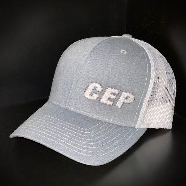 CEP Branded Hat Gray White Back